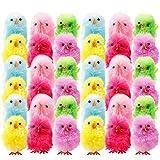 Wyi - Mini pulcini pasquali in ciniglia, per cappello/torta, decorazione per feste, bomboniere, decorazioni per uova di Pasqua, colori assortiti
