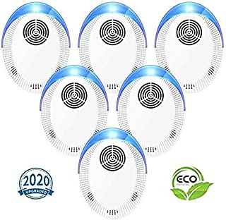 Bocianelli Ultrasonic Pest Repeller 6 Pack, 2020 Upgraded Pest Repellent, Pest Control Set of Electronic Plug in Indoor for Pests
