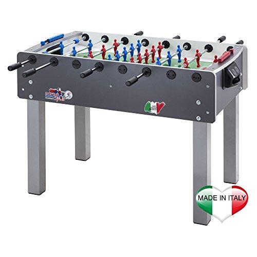 Roberto Sport - Tavolo da Calcio Balilla, per Adulti Unisex, Colore: Grigio, Pezzo Unico