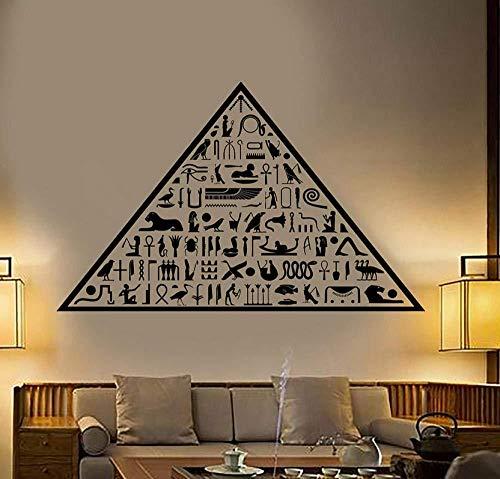 Alte Ägypten ägyptische Pyramide Hieroglyphen Vinyl Wandtattoo Home Decor Art Wandbild Abnehmbare Wandaufkleber 58X93Cm