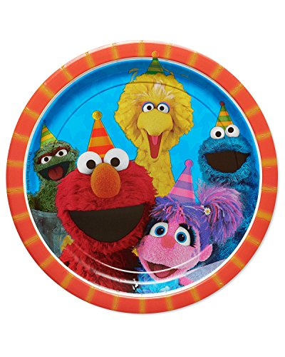 Amscan 551672 Sesame Street Birthday, Round Paper Plates, 9', 8 Ct.
