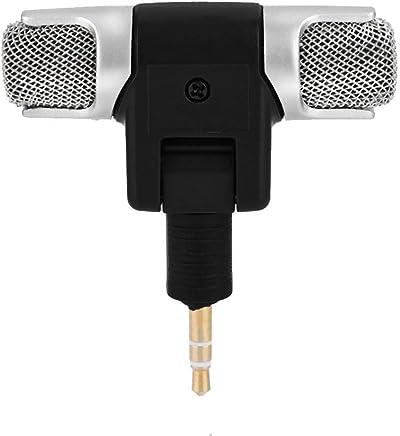 Zerone Mini Microfono Stereo, Microfono Stereo Esterno Microfono Microfono da 3,5 mm Jack Placcatura Oro per PC Laptop MD Camera - Confronta prezzi