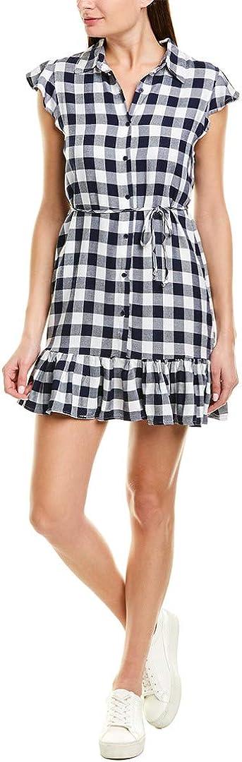 BB DAKOTA Women's Check Please Yarn Dyed Rayon Shirt Dress