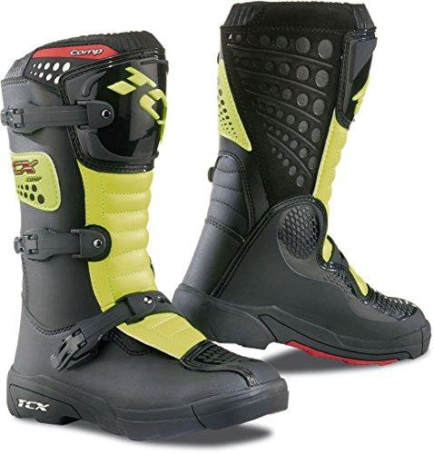 TCX Comp Kinder Motocross Stiefel 35 Schwarz/Neon Gelb