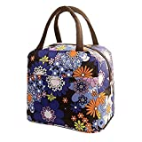 HWTOP Handtaschen Lunchpaket Thermal Insulated Tote Picknick Kühltasche Kühlbox Lunchbox Bag Stofftasche (Violett)
