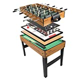 PEXMOR 10 in 1 Multifunctional Game Table with Foosball, Billiards, Hockey, Shuffleboard, Bowling and More, 48 Inch