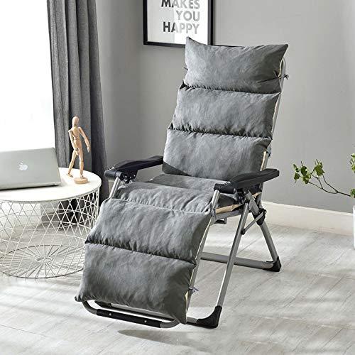 ANBEN Cojines lavables de repuesto para tumbonas, cómodas almohadillas de asiento gruesas, fundas de sofá para patio, tumbona, cojín para silla de columpio al aire libre, color gris, 175 x 50 x 12 cm