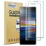 AOKUMA Cristal Templado Sony Xperia L3, [2 Unidades] Protector Pantalla para Sony Xperia L3 Robusto Antiarañazos Antihuellas con Borde Redondeado Dureza 9H+ Antiburbujas