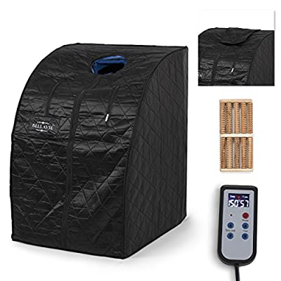 Bellavie Portable Personal Folding Home Steam Sauna Therapeutic Xlarge Full Body w/ Foldable Chair