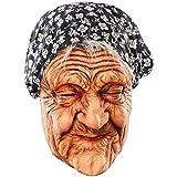 Omamaske Maske alte Frau Oma Greisin Großmutter Uroma Halbmaske Faschingsmaske