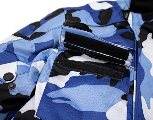 Herren Motorrad Textil Jacke Motorradjacke Winddicht Wasserdicht Belüftet Camo Camouflage (4XL) - 6