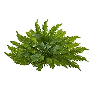 Nearly Natural 26in. Fern Artificial Ledge Silk Plants, Green