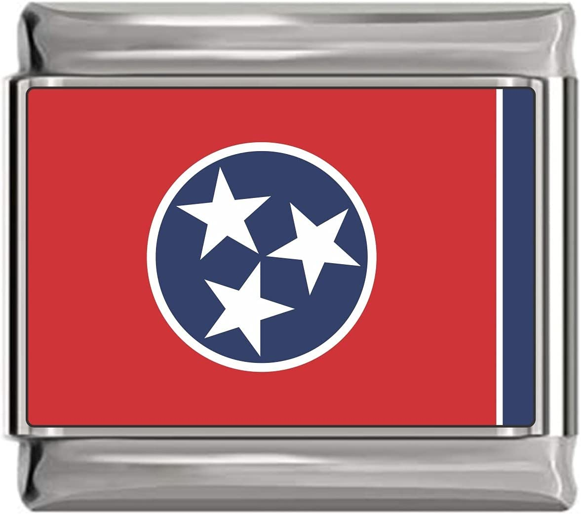 State of Tennessee Photo Flag Italian Charm Bracelet Jewelry Link