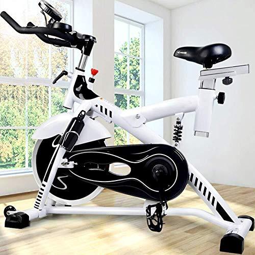 KANJJ-YU Bicicleta de ejercicio – Equipo aeróbico – Máquina de entrenamiento de ciclismo vertical para interiores con volante para entrenamiento cardiovascular o ejercicio en casa