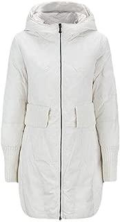 Womens Long Sleeve Zipper Casual Loose Warm Outwear Down Mid Length Outwear Overcoats Tops