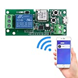 IEIK WiFi Wireless Smart Switch Relay Module for Smart Home 5V,Applied to Access Control, Remote Turn on/Off...