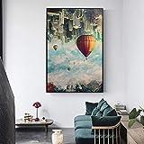sanzangtang Poster Drucken Heißluftballon