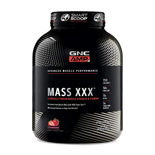 GNC AMP Amplified Mass XXX, Strawberry, 6.2 lb(s), Supports Muscle Protein Synthesis