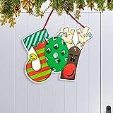 Happy Storm Christmas Door Hanger Joy Decoration Hanging Sign Waterproof Front Door Wall Outdoor Indoor Decor Hanging Sign for Xmas Holiday Party Supplies