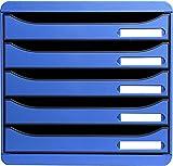 Exacompta 309779D - Caja organizadora, 5 cajones, color azul hielo