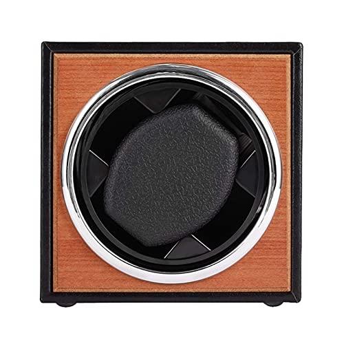 Enrolladores de reloj 1 + 0 Caja de bobinado de reloj mecánico vertical Fuente de alimentación USB Agitador de motor negro Mini Soporte de enrollador de reloj Dis (Caja de presentación de reloj)