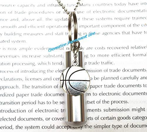 Halskette mit Basketball-Anhänger, Medaillon für Medaillon, Einäscherungsmedaillon, Beileidskette.