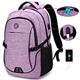 SHRRADOO Durable Waterproof Anti Theft Laptop Backpack Travel Backpacks Bookbag with usb...