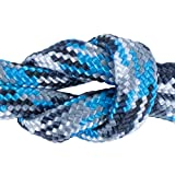 West Coast Paracord - Paracord Parachute Cord 7 Strand Type III 550 lb Break Strength Made, 550 Cord, Made in USA (Glacier Camo, 100 Feet)