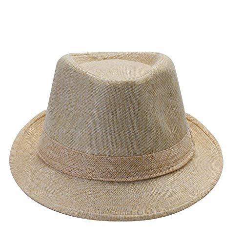 WYRKYP Sombrero de Sol Sombrero de Mujer Unisex Gorra Playa Sombrero de Paja con Sombrero de Sol Sombrero Ajustable,S.M