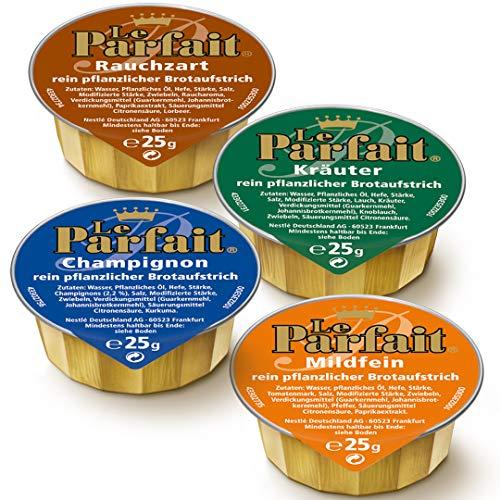 Le Parfait Sortiert: Rauchzart, Mildfein, Kräuter, Champignon, 1 Karton (120 x 25g)
