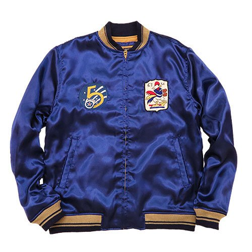 (バズリクソンズ) BUZZ RICKSON'S サテン ツアー ジャケット ミリタリー 刺繍 SATIN TOUR JACKET BR13767-119-170 42 128ネイビー