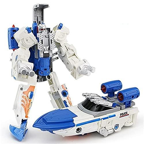 WAWAYU Juguetes de deformación, Robot Modelo deformación Juguete niño deformación de aleación Dios de Guerra King Kong-Speedboat Deformation Juguete Coche