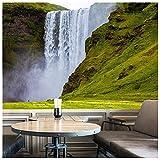 azutura Wasserfall Fototapete Island Landschaft Tapete Wohnzimmer Schlafzimmer Dekor Erhältlich in 8 Größen Mittel Digital