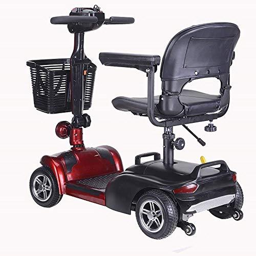 BOC Elektro-Rollstuhl Falten, Scooter Vierrad-Elektrofahrzeug Erwachsene Elektro-Fahrzeug Elderly Behinderte Roller Einfach Assembled Elektro Intelligent System