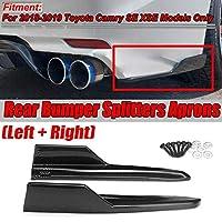 AL カーボン調 2ピース リア バンパー リップ スプリッター 保護 サイド コーナー エプロン スポイラー 対応車種: トヨタ カムリ SE XSE AL-II-4141