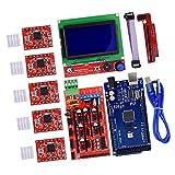 Tablero de control Arduino Mega 2560 R3: este es el cerebro de la impresora 3d responsable de controlar toda la impresora para realizar acciones específicas, como imprimir ciertos documentos Panel de control LCD 3D 12864: para mostrar, para lograr el...