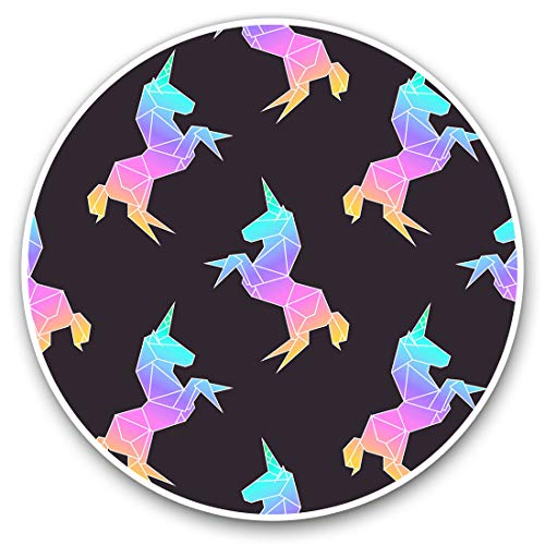 Awesome Vinyl Stickers (Set of 2) 20cm - Pretty Pink Ombre Unicorn Fun Decals for Laptops,Tablets,Luggage,Scrap Booking,Fridges,Cool Gift #12927