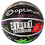 OPTIMUM Street-Balón de Baloncesto, Unisex-Adult, Multi/Colour, Size 7