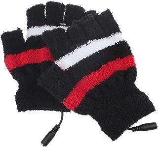 iTLOTL USB Heating Winter Hand Warm Gloves Heated Fingerless Warmer Mitten