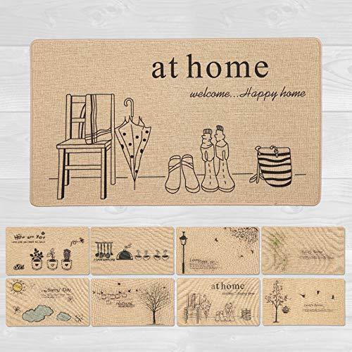 LucaHome – Alfombra Interior casa Verona Base Antideslizante, Felpudo Premium, fácil Limpieza, Alfombra Acolchada, Felpudo de Interior Pasillo, Cocina, Dormitorio.. (Home, 40x70 cm)