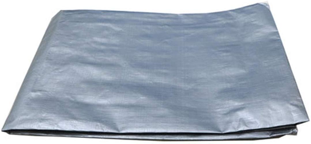 T-ShommeET Argent Imperméable Pluie Toile Toile Auvent Extérieur Pare-Soleil Bache De Camion Bache Tentes (4,8 X 5,8 M)