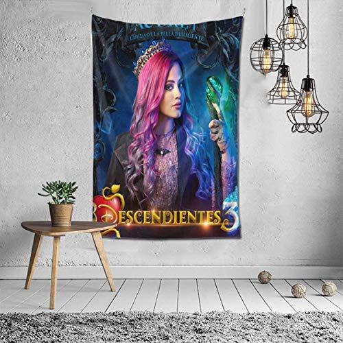 N\A Descendientes 3 Tapiz de Moda Audrey Hombres Mujeres tapices de Lujo tapices decoración del hogar Regalo Talla única