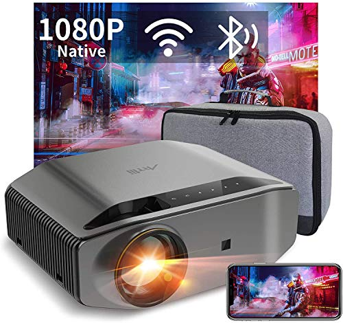 "WiFi Bluetooth Projector Support 4K, Artlii Energon 2 Full HD Native 1080P Outdoor Projector, 340 ANSI Lumen 300"" Display, Keystone&Zoom, Compatible with TV Stick, iOS, Android for Home Theater, PPT"