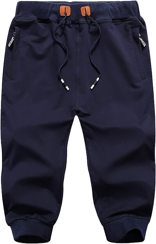 Huangse Mens Shorts Casual Classic Fit Drawstring Summer Beach Shorts with Zipper Pockets Running Sportswear