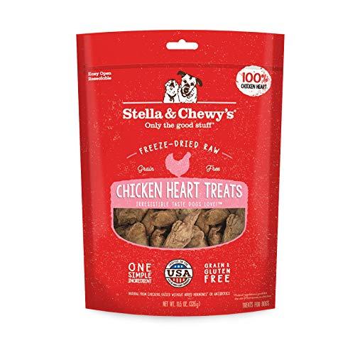 Stella & Chewy's Freeze-Dried Raw Chicken Hearts Dog Treats, 11.5 oz Bag
