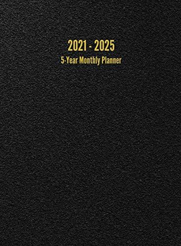 2021 - 2025 5-Year Monthly Planner: 60-Month Calendar (Black)