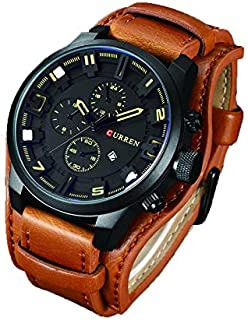 Curren Casual Watch For Men Analog Leather - 8225