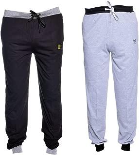VIMAL JONNEY Men's Cotton Trackpants (Pack of 2)-D9BD9M-P