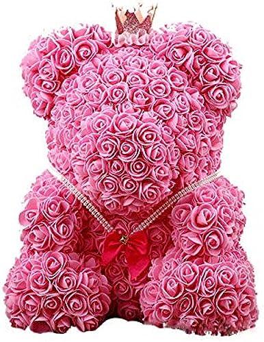Baoffs Imitat-Blaumen-Rosa-Teddyb Rosan-B -Teddyb Cub Rosa Christmas Valentines Gift Jubil sgeschenk für Liebhaber