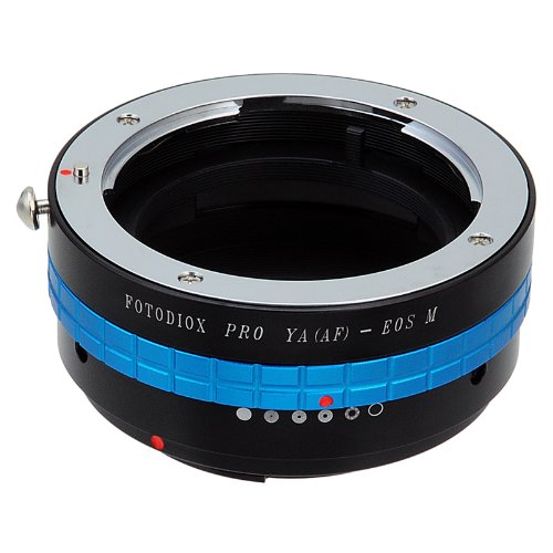 Fotodiox Pro Lens Mount Adapter met Lens Aperture Control Dial, Yashica 230 AF Lens naar Canon EOS M (EF-m) Mount Mirrorless Camera